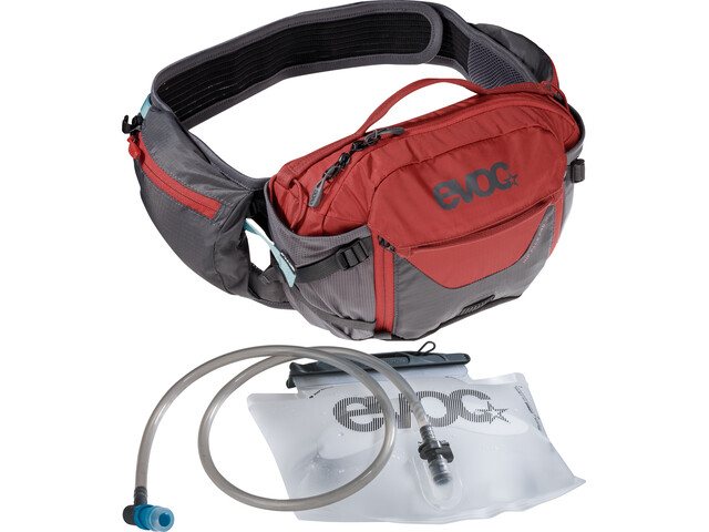 EVOC Hip Pack Pro 3l + 1,5l væskeblære, carbon grey/chili red